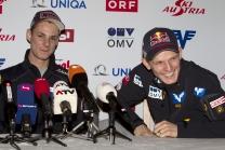 FIS Skispringen, Manuel Fettner (AUT), Thomas Morgenstern (AUT)