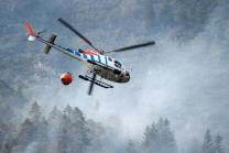 Waldbrand bei Absam, Halltal