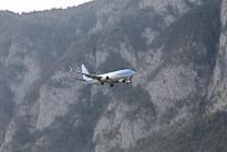 TUI Flugzeug / Landeanflug Innsbruck