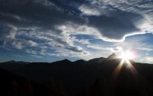 Sonnenuntergang in den Alpen
