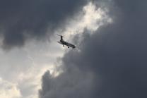 Idealtours Flugzeug / Landeanflug Innsbruck