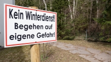 Hinweisschild / Kein Winterdienst!