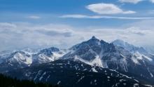 Blick vom Patscherkofel zur Serles, Tirol, Austria