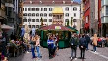 Ostermarkt in der Altstadt von Innsbruck, Tirol, Austria