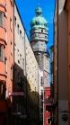 Altstadt von Innsbruck mit Stadtturm, Tirol, Austria