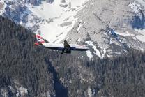 British Airways Flugzeug / Landeanflug Innsbruck, Tirol