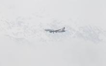 Thomas Cook Flugzeug / Landeanflug Innsbruck, Tirol, Austria