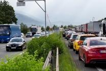 Stau / Rettungsgasse / A12 Inntalautobahn, Tirol, Austria