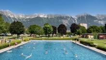 Freibad Tivoli, Innsbruck, Tirol, Austria