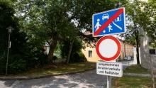 Verkehrsschild: Ende verkehrsberuhigter Bereich / Spielstraße / Fahrverbot