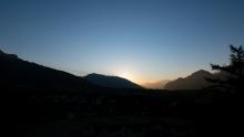 Sonnenuntergang in Igls, Innsbruck, Tirol, Austria