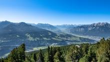Blick in das Oberinntal, Tirol, Austria