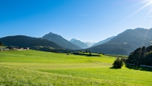 Blick von Patsch in das Stubaital, Tirol, Austria