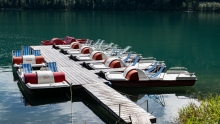 Walchensee, Bayern, Deutschland / Bootsverleih, Tretboote