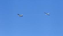 Segelflugzeug / Flugzeugschlepp / F-Schlepp