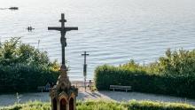 Starnberger See, Bayern, Deutschland / Gedenkstätte von König Ludwig II.