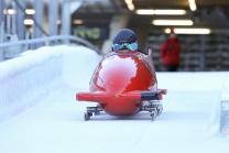 Bobbahn Innsbruck-Igls, Tirol, Austria / Training 2er Bob