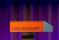 Eröffnung der Igler Art / Rednerpult