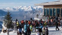 Patscherkofelbahn Bergstation, Bergrestaurant, Tirol, Austria