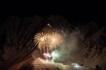 Silvester-Feuerwerk 2019/2020 auf der Seegrube, Nordkette, Innsbruck