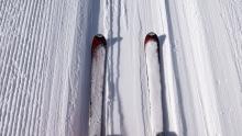 Stubaier Gletscher, Tirol, Austria / Ski, Skier in der Liftspur