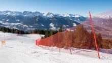 Skipisten Sicherheitsnetze / Patscherkofel, Tirol, Austria