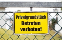 Privatgrundstück Betreten verboten