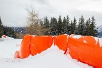 Aufprallschutz, Schutzmatten für Skifahrer / Patscherkofel, Tirol