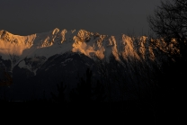 Sonnenaufgang, Seegrube, Nordkette, Innsbruck, Tirol, Austria