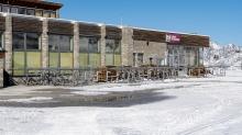 Bergstation, Restaurant Gamsgarten / Stubaier Gletscher, Stubaital, Tirol, Austria