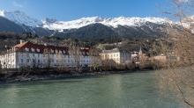 Inn / St. Nikolaus, Innsbruck, Tirol, Austria
