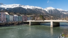 Inn / Mariahilf, St. Nikolaus, Innsbruck, Tirol, Austria