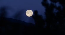 Mond, Vollmond über Tirol, Austria