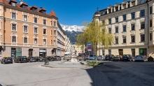 Sonnenburgplatz in Wilten Innsbruck, Tirol, Austria