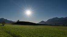 Hoschspannungsleitungen / Sistrans, Tirol, Austria