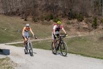 Mountainbiker / Arzler Alm, Nordkette, Innsbruck, Tirol, Austria