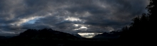 Sonnenuntergang über dem Inntal, Tirol, Austria