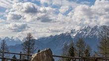 Blick von der Lanser Alm zur Nordkette, Lans, Patscherkofel, Tirol, Austria