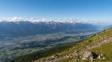 Blick vom Patscherkofel in das Inntal, Innsbruck, Tirol, Austria