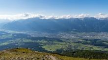 Blick vom Patscherkofel nach Innsbruck, Tirol, Austria