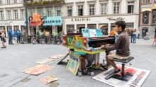 Open Piano / Maria-Theresien-Straße, Innsbruck, Tirol, Austria