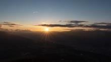 Sonnenuntergang über dem Inntal, Innsbruck, Tirol, Austria