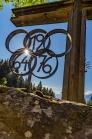 Olympische Ringe von 1964 und 1976 / Kreuz / Patscherkofel, Tirol, Austria