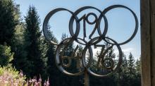 Olympische Ringe von 1964 und 1976 / Patscherkofel, Tirol, Austria