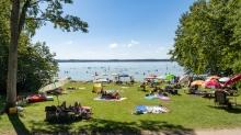 Erholungsgebiet Ambach, Starnberger See, Bayern, Deutschland