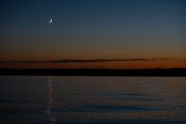 Abendstimmung / Erholungsgebiet Ambach, Starnberger See, Bayern, Deutschland