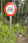 Mountainbiken, Radfahren verboten