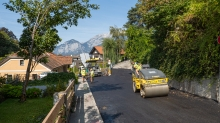 Asphaltfertiger, Straßenfertiger, Straßenwalze