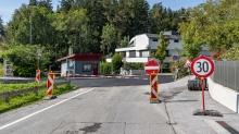 Straßensperre wegen Baustelle