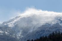 Schneesturm am Patscherkofel, Tirol, Austria